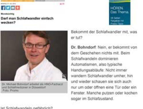 Berliner Kurier, 27.7.2015: Darf man Schlafwandler einfach wecken?