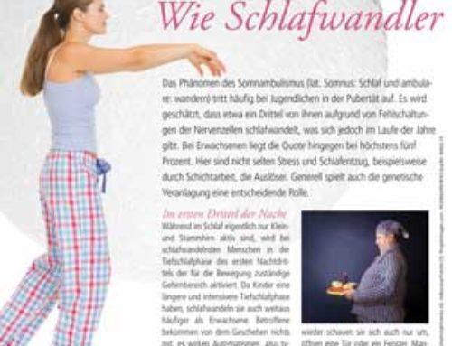 Apothekenmagazin Kopffit, Juli 2015: So kommen Schlafwandler zur Ruhe